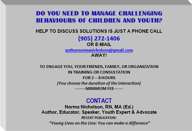 help managing challenging behaviours of children and youth