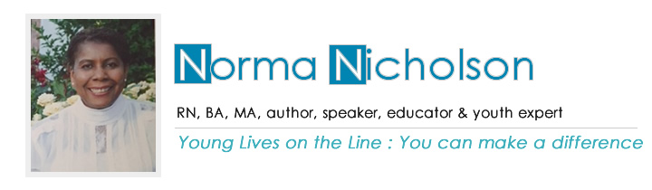 Norma Nicholson | RN, BA, MA, author, speaker, educator & youth expert