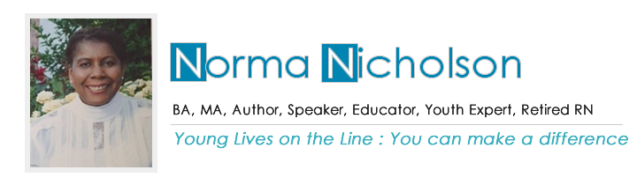 Norma Nicholson | BA, MA, author, speaker, educator & youth expert